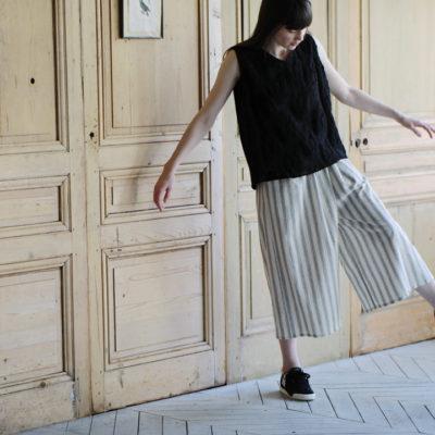 18ss  Stripe wide pants