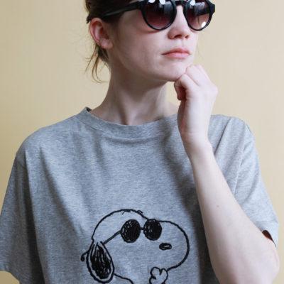 スヌーピー刺繍Tシャツ