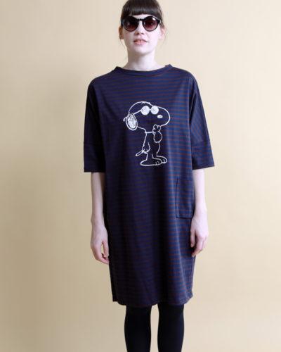 スヌーピー刺繍ワンピース