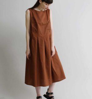 →2019ss linen Dress