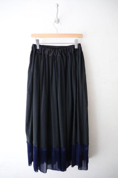 Velor tulle switching skirt