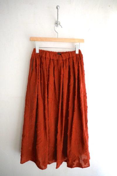 花柄ジャガードギャザースカート