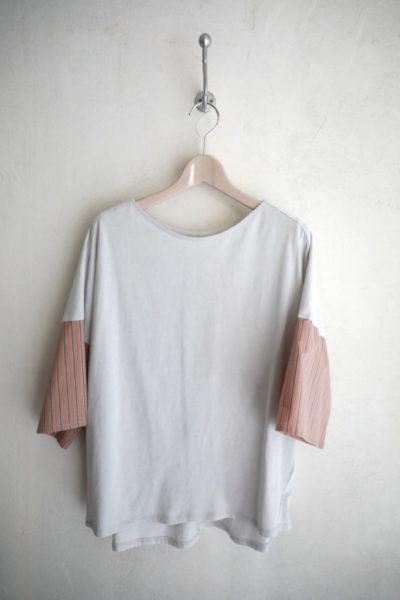 ストライプスリーブTシャツ