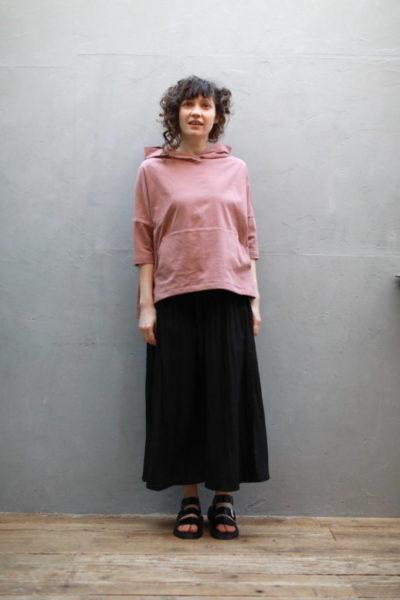 シャーリングワイドスカート